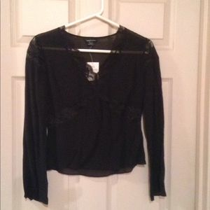 Black silk and lace top.